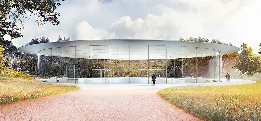 飛碟造型的蘋果公園。 取自蘋果官網