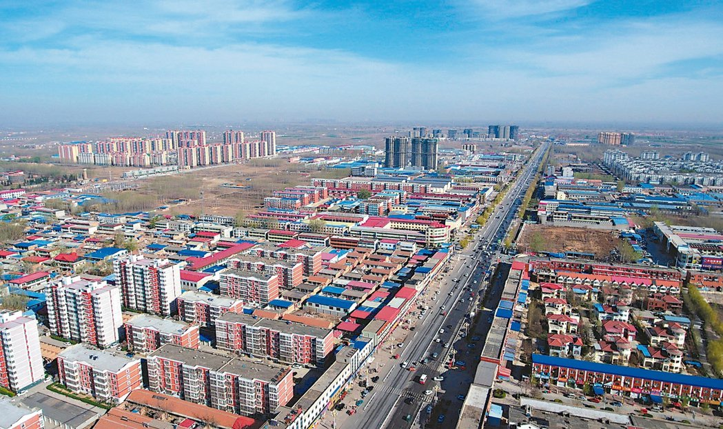 大陸設河北雄安新區,圖為該區空拍照。 新華社