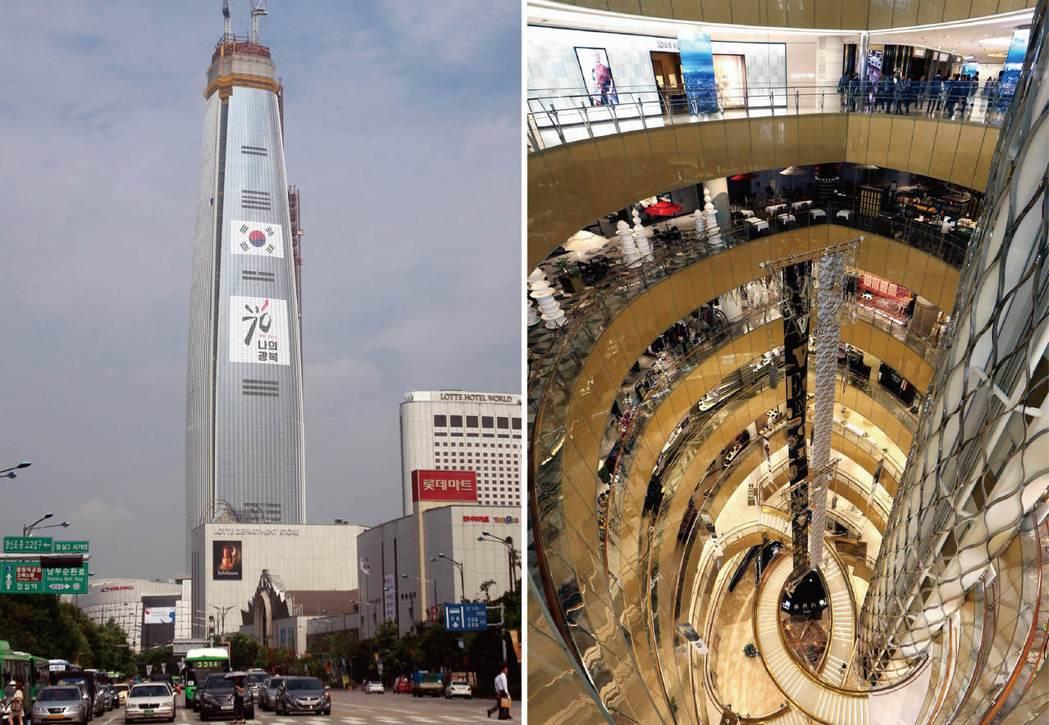 樂天世界塔共有一百廿三層,於本月三日正式對外營業。 (美聯社)(歐新社)