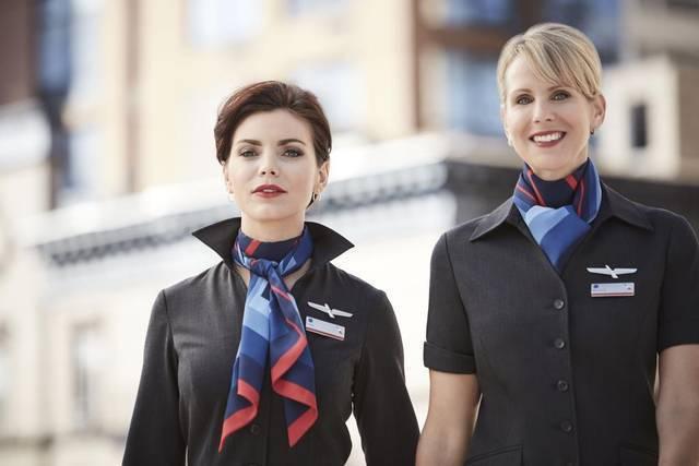美國航空的新制服,竟讓很多員工過敏。 圖/摘自美航網站