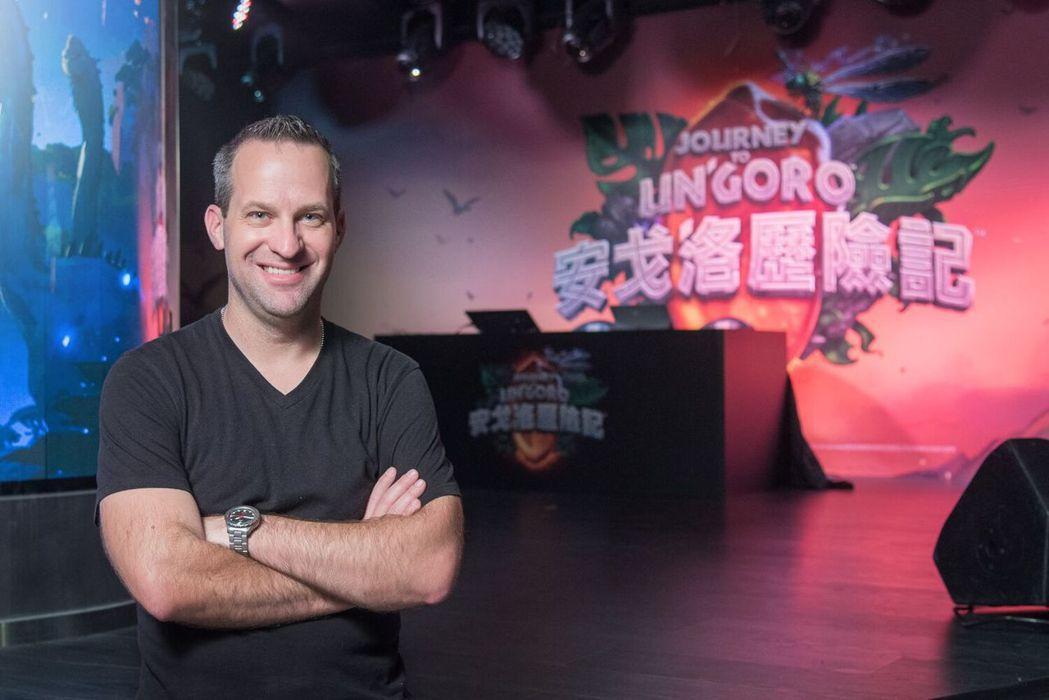Ben Thompson時任藝術總監曾來台宣傳,現為創意總監。 圖/暴雪提供