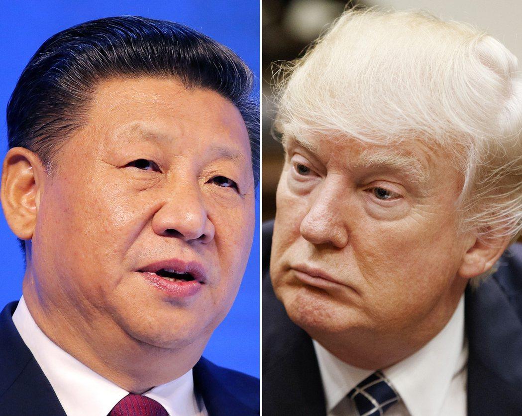 中國國家主席習近平與美國總統川普。(美聯社)