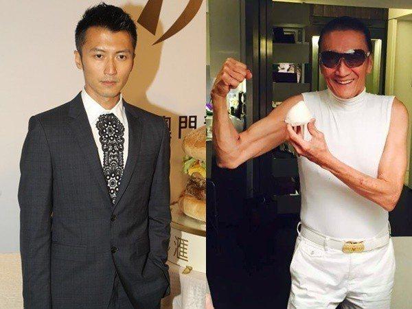 謝賢(右)與謝霆鋒父子。圖/取自新浪娛樂