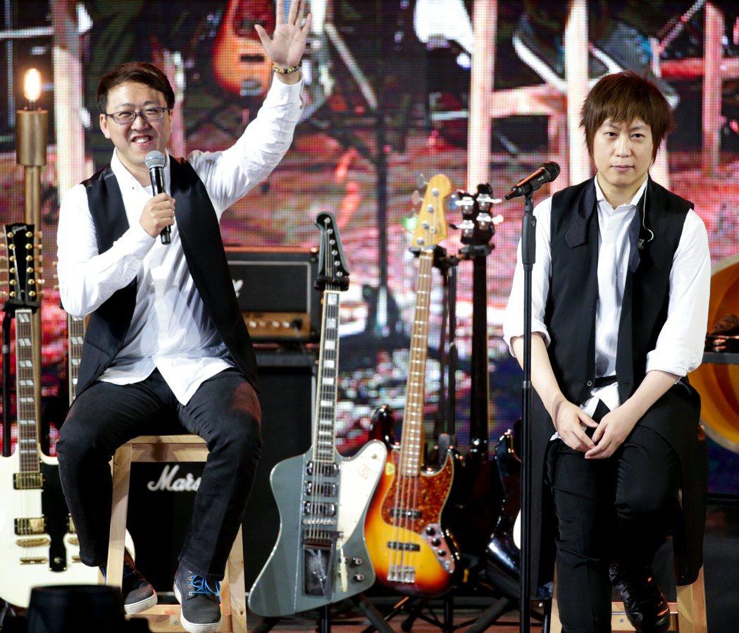 達叔3月29日和五月天一起在舞台上演出。圖/本報資料照