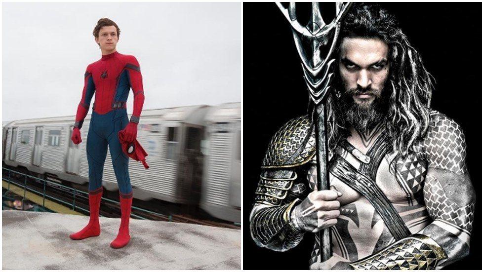 新任「蜘蛛人」湯姆霍蘭德坦言將「水行俠」傑森摩莫亞視為偶像。圖/索尼提供、華納兄