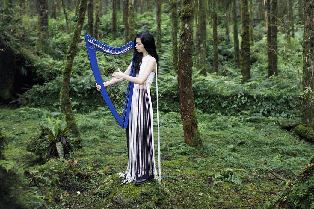 豎琴手蘇珮卿混搭古典與流行音樂去風,如華語樂壇碧玉。圖/索尼提供