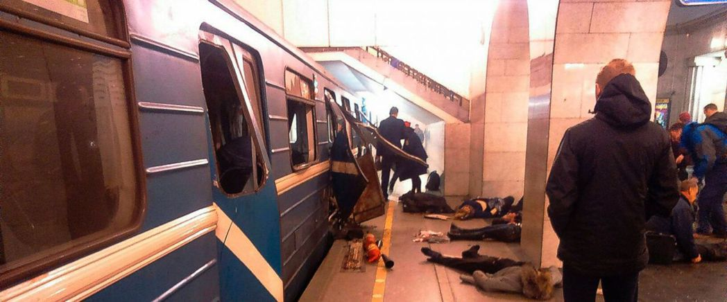聖彼得堡地鐵爆炸案疑似為自殺炸彈恐攻事件。圖/美聯社