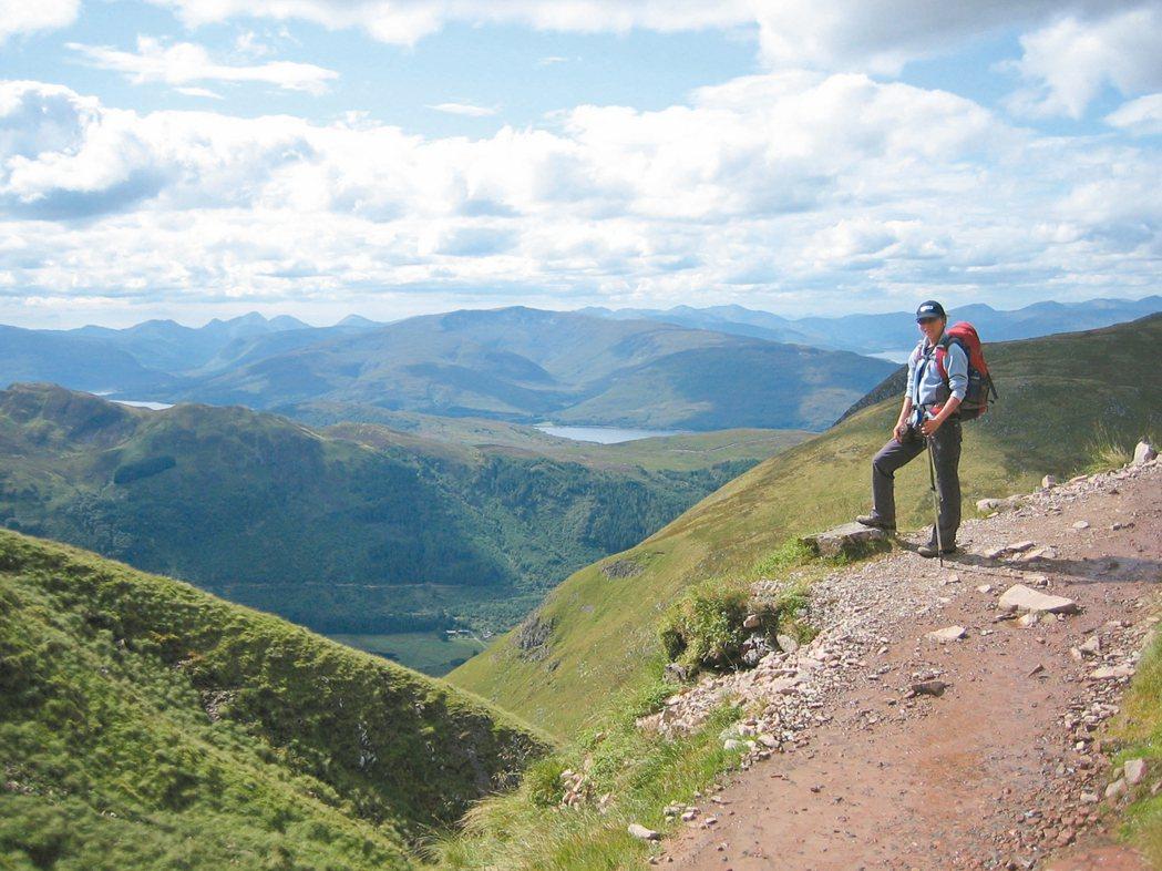 蘇格蘭高地的風景真的美不勝收!尤其是天氣好的時候。 圖/江長芳