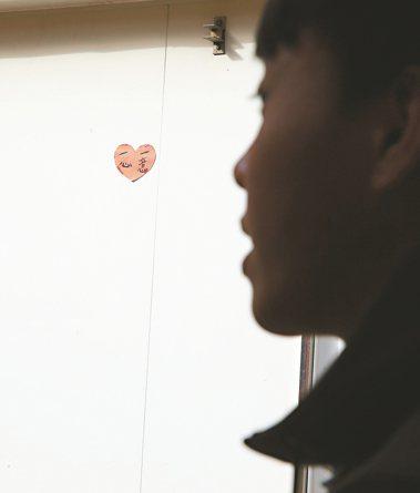 香港戒毒會凹頭青少年中心,牆上標語「一心一意」說明戒毒決心。 記者陳柏亨/攝影