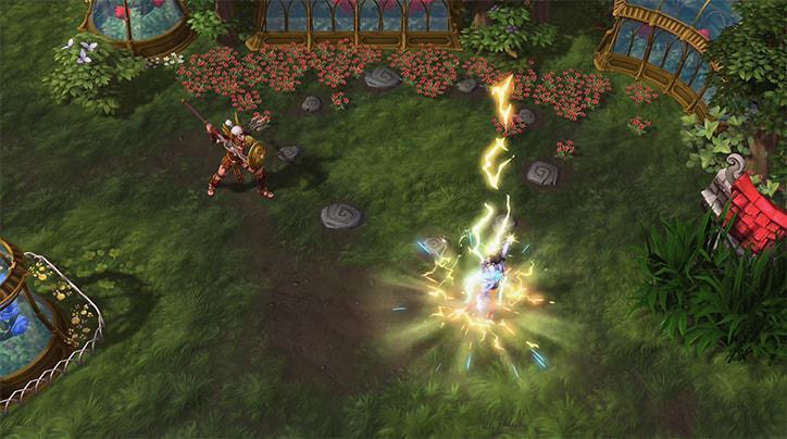 「致盲之光」可使使目標範圍內的敵人目盲,使其攻擊失準。 圖/暴雪提供