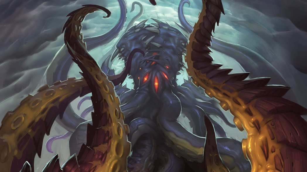 《爐石戰記》設計團隊為了恰當地呈現古神的形象,會與《魔獸世界》團隊共同討論。 圖...