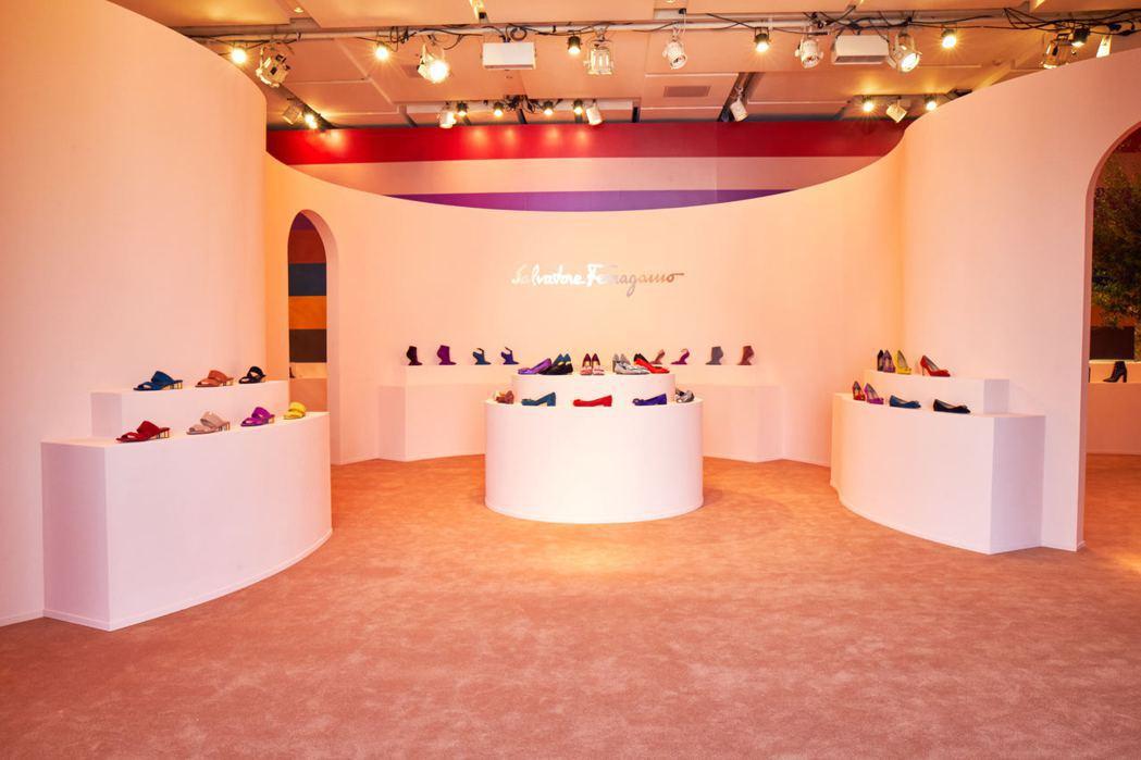 Ferragamo 2017早秋女鞋首爾活動展覽現場。圖/Ferragamo提供