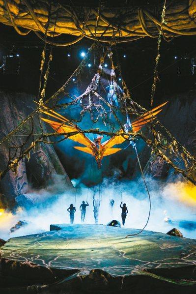 納美世界的天空霸主托魯克(TORUK)展翼時寬達四十呎,須靠六名操偶師同時操控。...