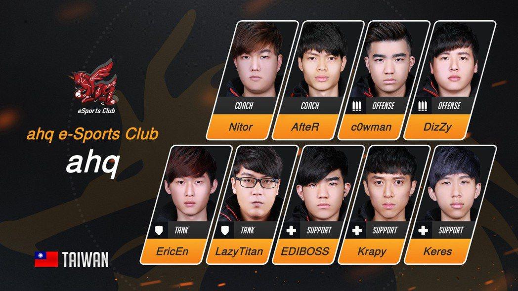 ahq eSports Club(ahq)《鬥陣特攻》OPC戰隊選手陣容。