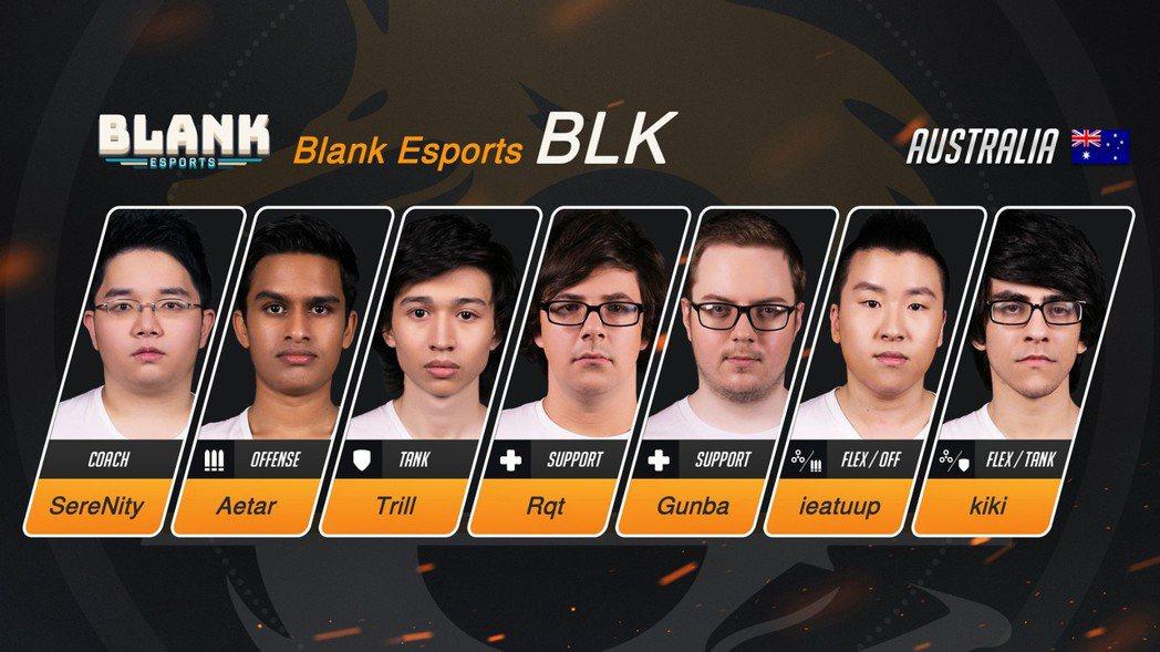 Blank Esports(BLK)《鬥陣特攻》OPC戰隊選手陣容。