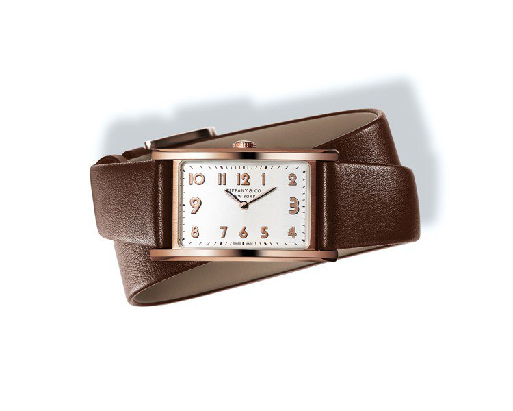 Tiffany East West 18K玫瑰金女士腕表,25萬8,000元。圖...
