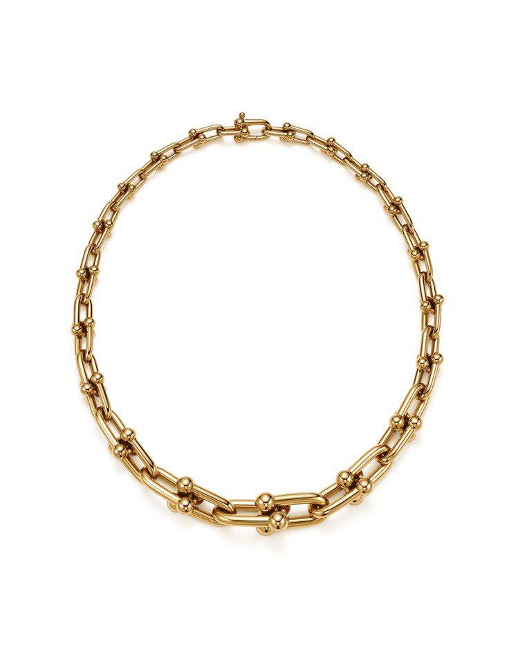 TiffanyHardWear鍊結設計18K金項鍊,36萬3,000元。圖/Ti...