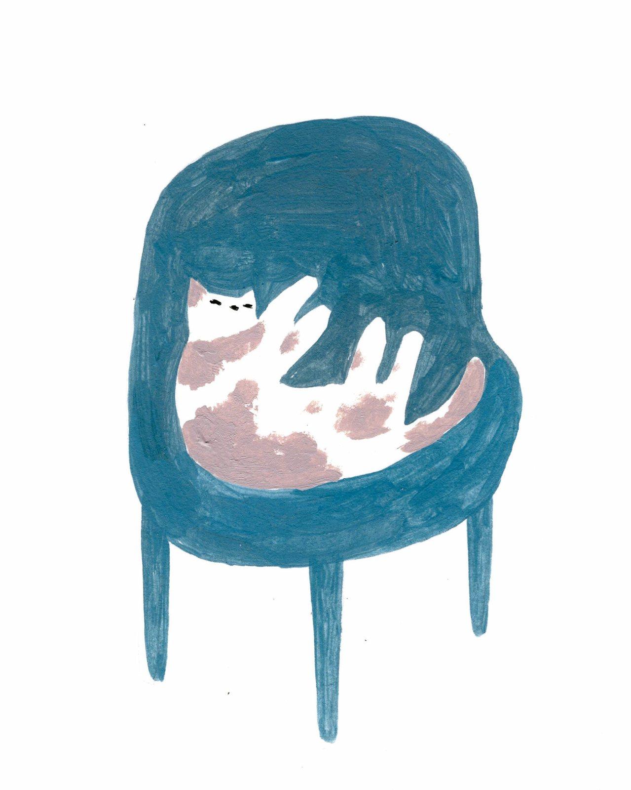 我們在蘭嶼的早餐店用餐時,有一隻貓咪慵懶地賴在椅子上,叫也叫不起來,怎樣抱牠、逗...