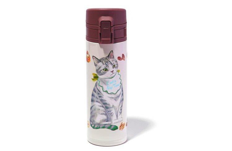 西點貓咪單手開保溫瓶,售價1,380元。圖/Afternoon Tea提供