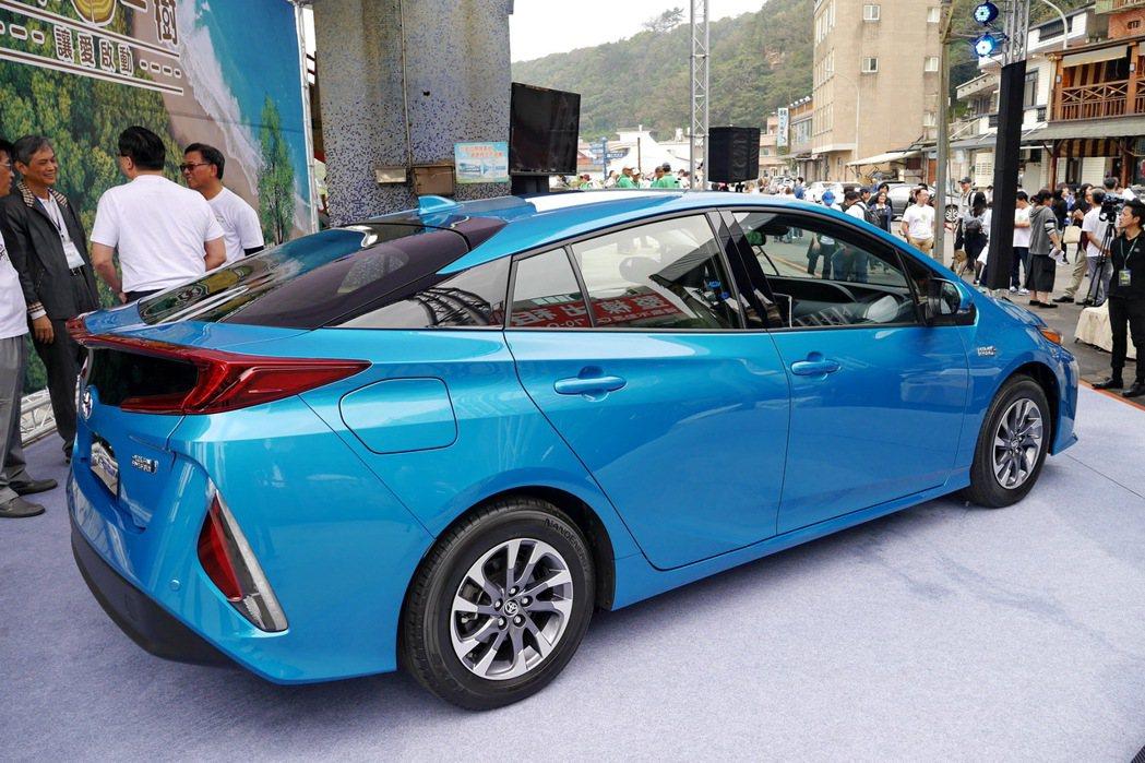 Toyota Prius PHV採用TNGA全球底盤架構。 記者陳威任/攝影