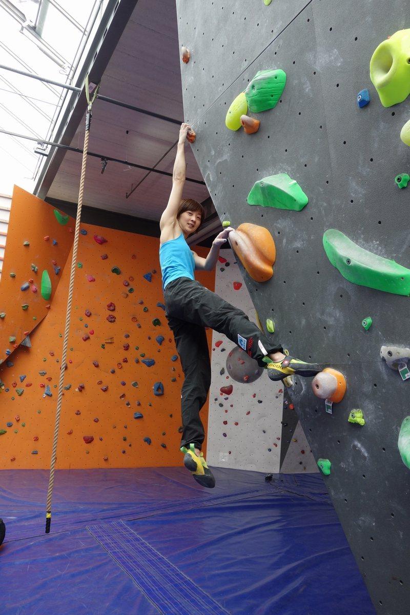 攀岩菁英選手李虹瑩,長像貌似桂綸鎂。 豐謙建設/提供