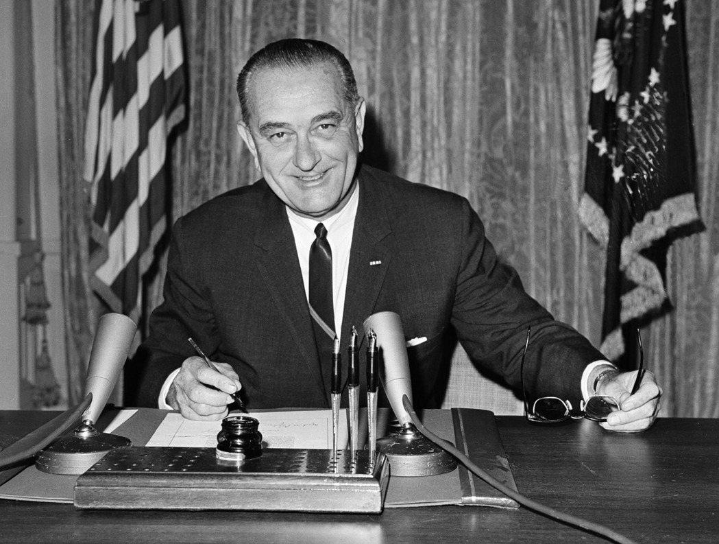 第36任美國總統詹森。 (美聯社)