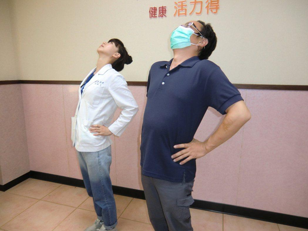 伸懶腰有助舒緩疲勞。圖/活力得中山脊椎外科醫院提供