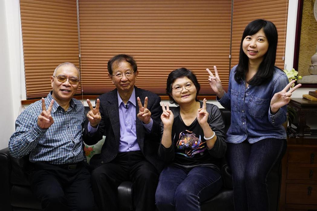 李遠哲(左二)上公視「誰來晚餐」。圖/公視提供