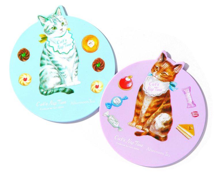 西點貓咪造型杯墊,售價250元。圖/Afternoon Tea提供