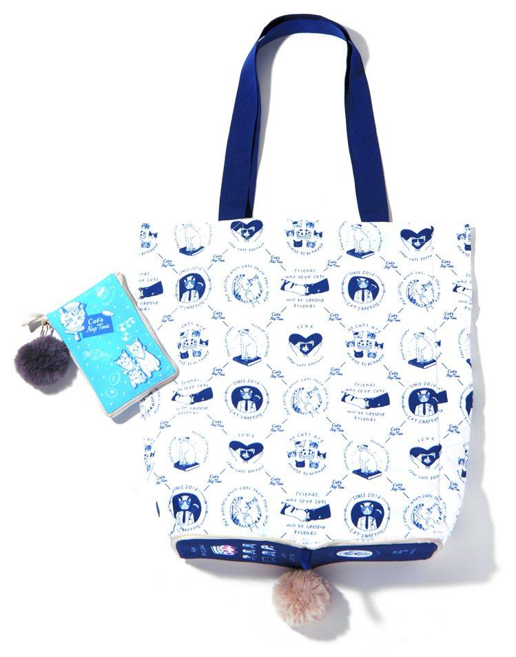 西點貓咪收納購物袋,售價900元。圖/Afternoon Tea提供