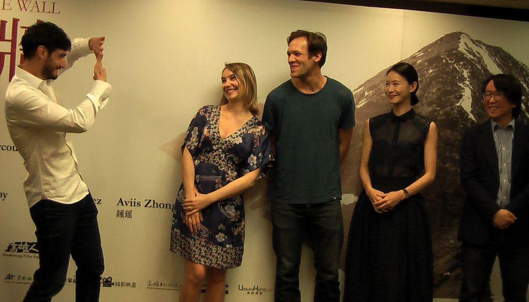 台灣與法國聯合製作愛情電影長片《愛之牆》,在高雄舉行開拍記者會。記者徐如宜/攝影