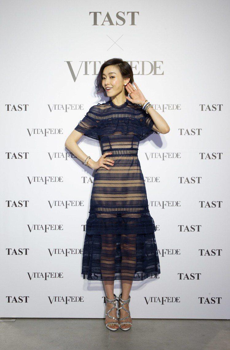 范瑋琪以VITA FEDE混搭手鍊出席TAST精品複合店開幕。圖/TAST提供