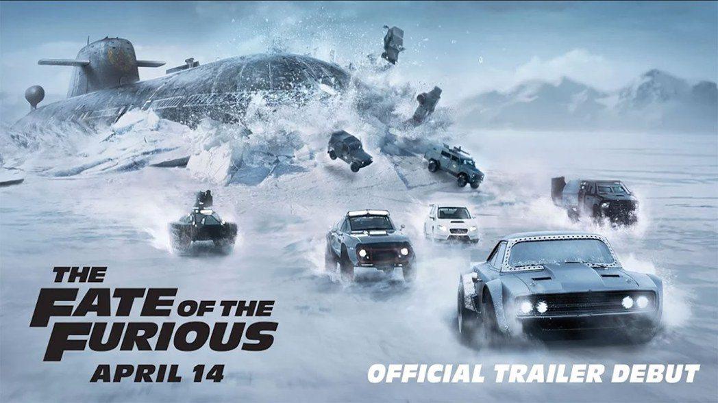 「玩命關頭8」又將挑戰高難度的冰上飆車動作戲。圖/UIP提供