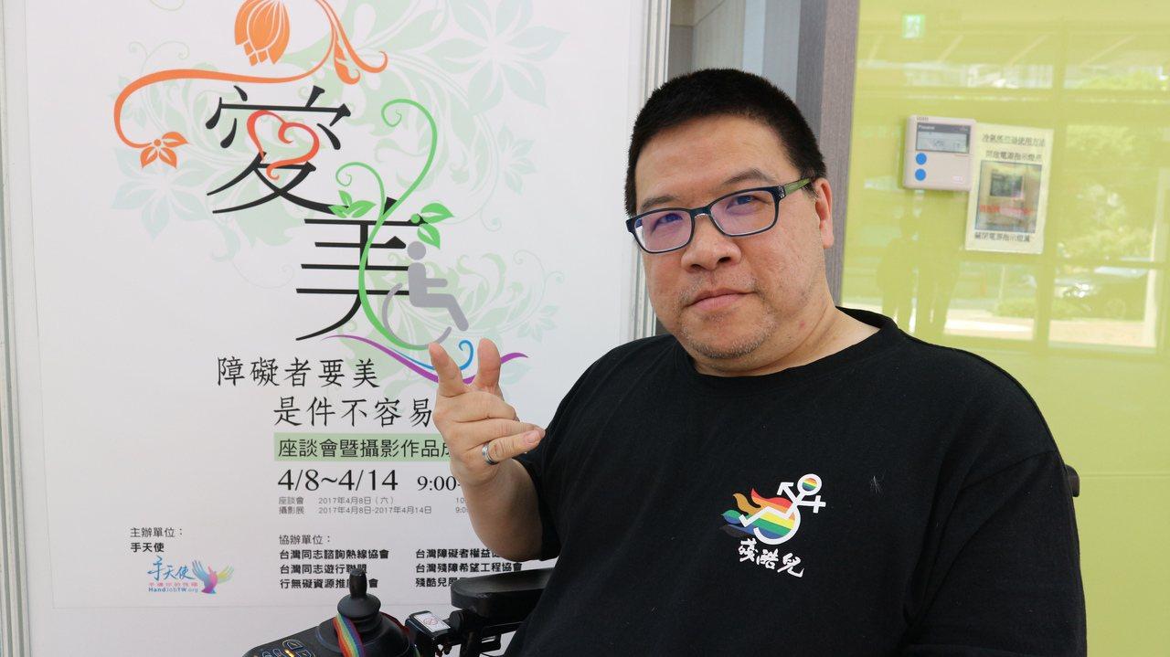 手天使創辦人黃智堅,希望政府能更重視身障者權益,提供更細緻化的服務。記者陳雨鑫/...