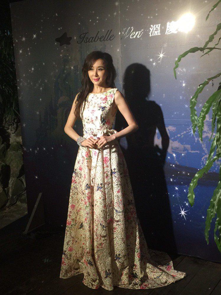 「台灣第一美女」蕭薔受邀出席溫慶珠服裝秀。圖/記者陶福媛攝影