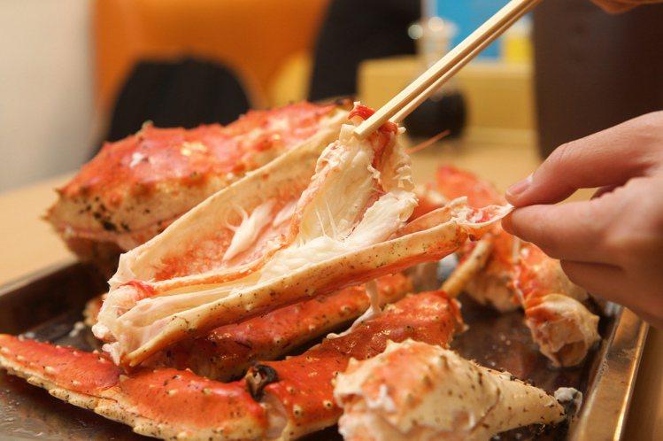 帝王蟹是日本北海道的代表性海鮮之一。圖/讀者王小姐提供