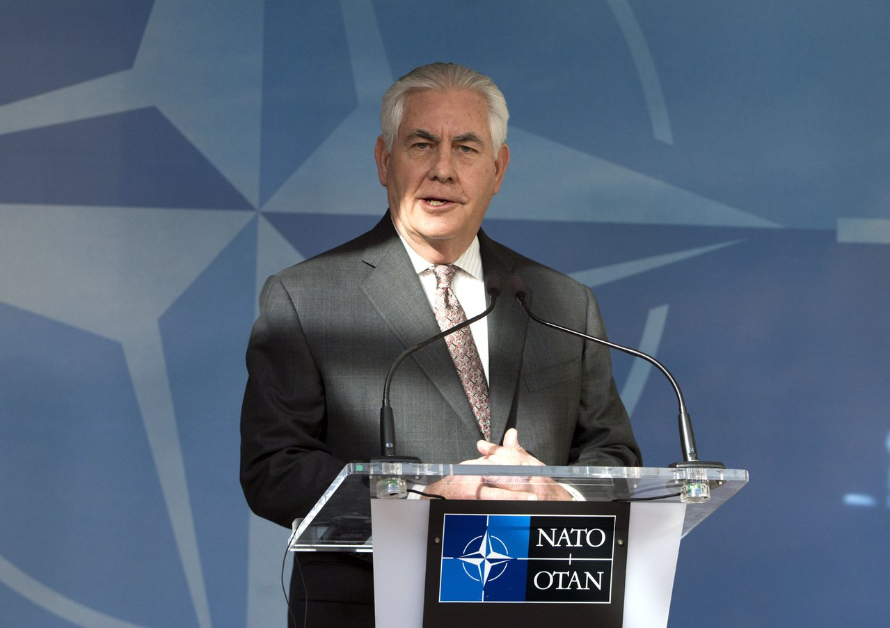 美國國務卿提勒森(Rex Tillerson)。歐新社