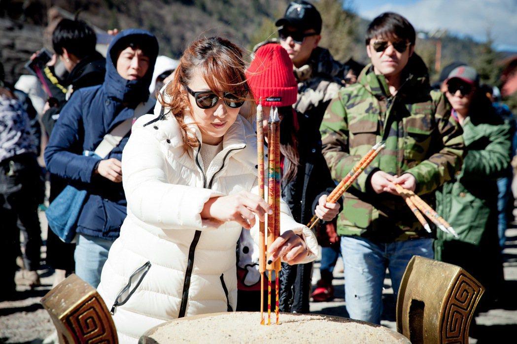 陳玉珊出席「狼殿下」開機儀式。圖/京騰娛樂提供