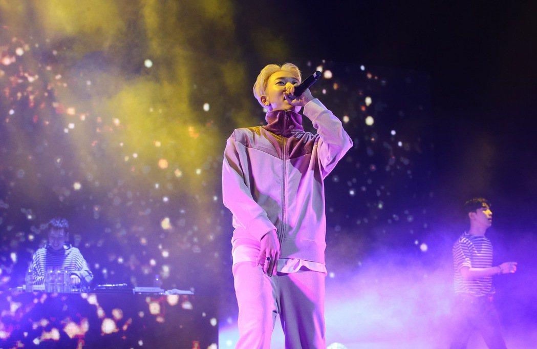 韓國AOMG旗下藝人今晚在台北國際會議中心舉辦演唱會。記者余承翰/攝影