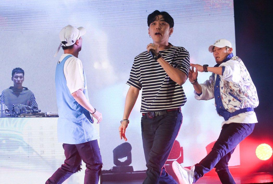 韓國AOMG旗下藝人在台北國際會議中心舉辦演唱會。記者余承翰/攝影
