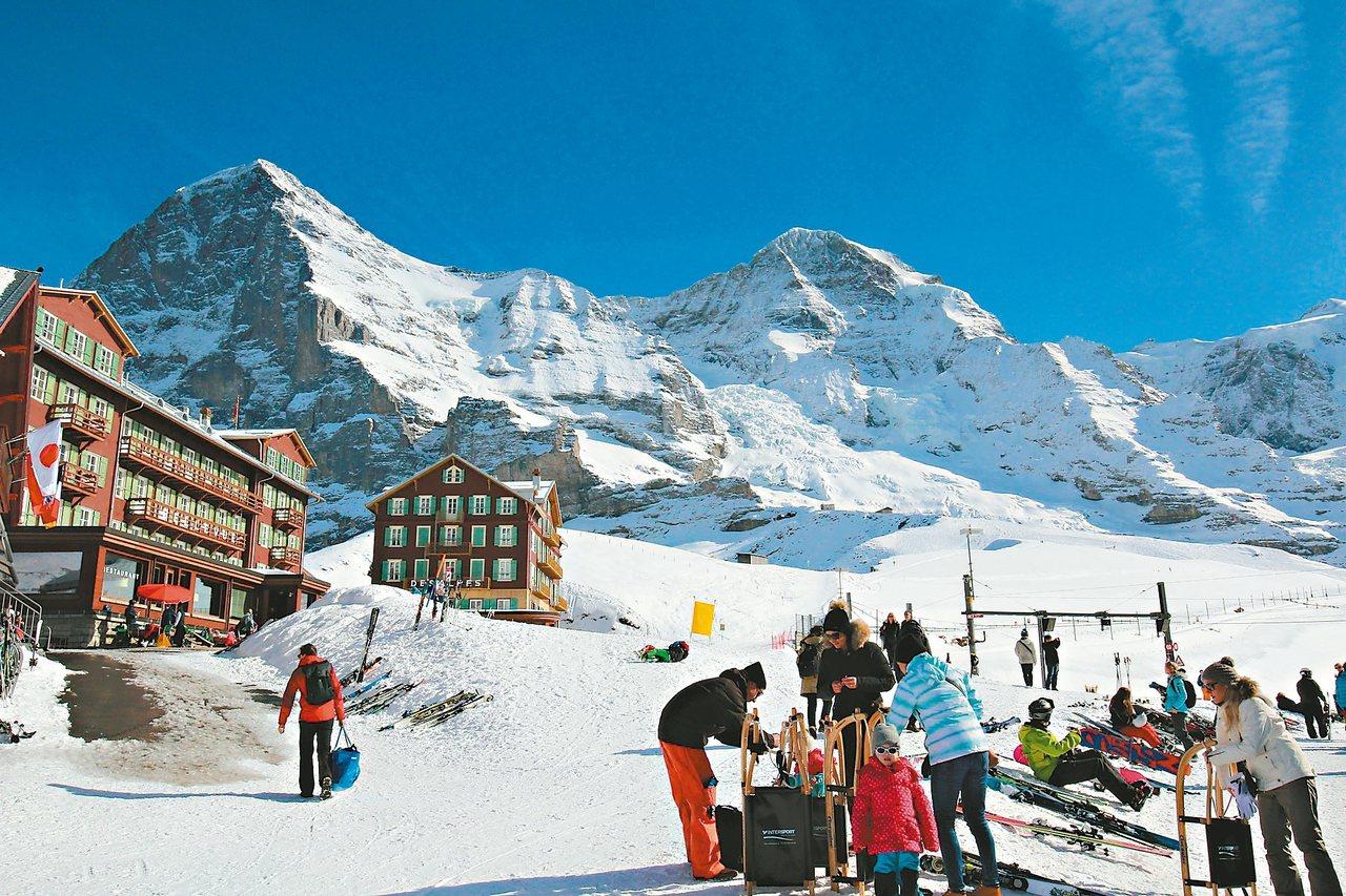 高山雪景,是瑞士最美景之一。 圖/楊振發提供