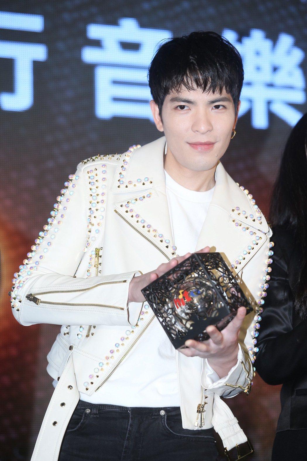 蕭敬騰出席hito流行音樂獎頒獎典禮啟動記者會。記者余承翰/攝影