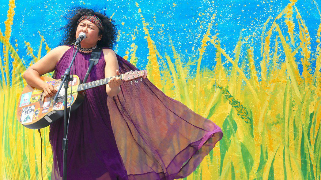 原住民歌手巴奈在凱道發表全新EP,EP全程在凱道錄製,巴奈以歌手身分,用堅定溫柔