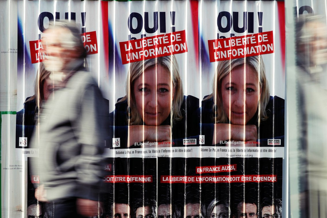 根據民調機構 Ifop 上周公佈的最新數字,極右派「民族陣線」的瑪琳.勒龐僅以2...