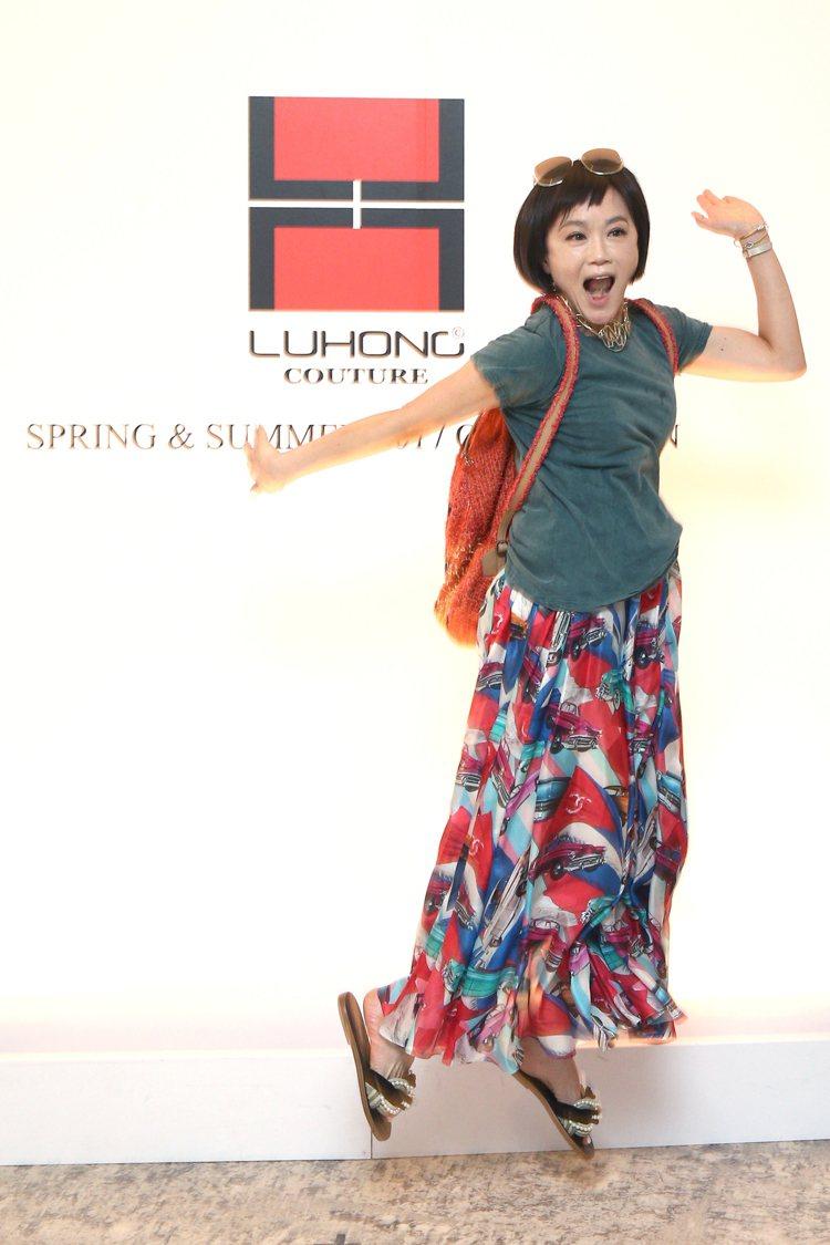 高怡平出席LUHONG COUTURE春夏發表。圖/記者蘇健忠攝影