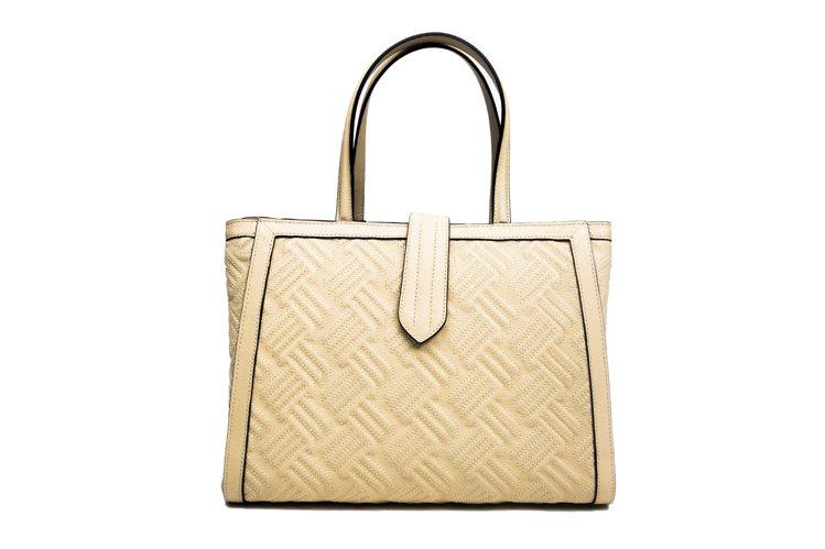 DELAGE 黃色牛皮斜紋手提包,59,800元。圖/LUHONG COUTUR...