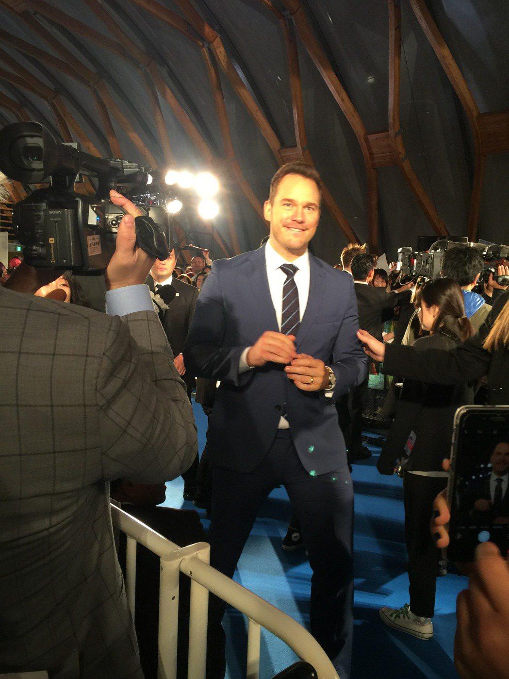 克里斯普萊特出席「星際異攻隊2」東京首映會。圖/迪士尼提供