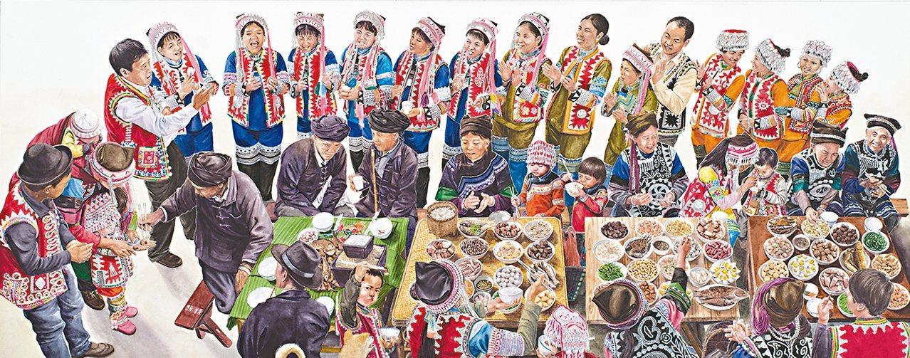藝術家于虹呈的作品「盤中餐」。 圖/蔚龍藝術提供