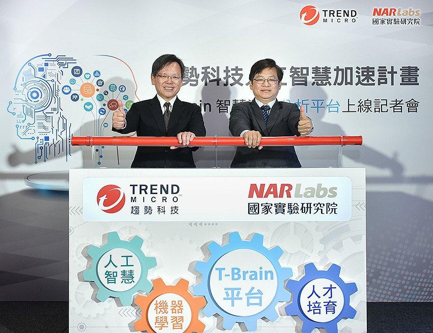 趨勢科技攜手國研院合作啟動「趨勢科技人工智慧加速計畫」,打造「T-brain」機...