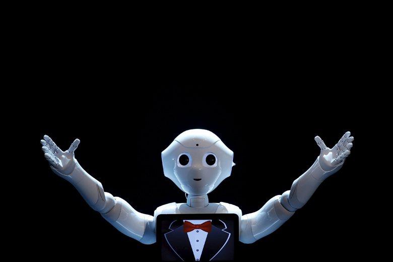 圖為微軟推出的機器人Pepper。 圖/路透社